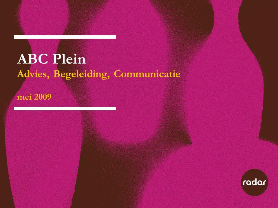 ABC Plein Advies, Begeleiding, Communicatie mei 2009 Woordenspel ABC