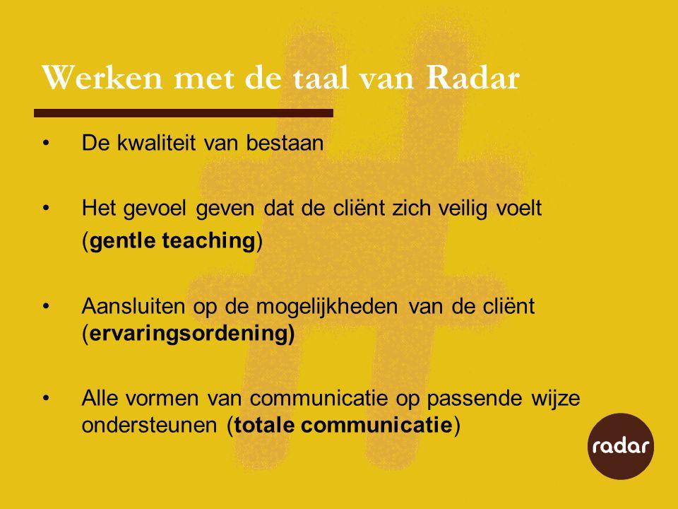 Werken met de taal van Radar