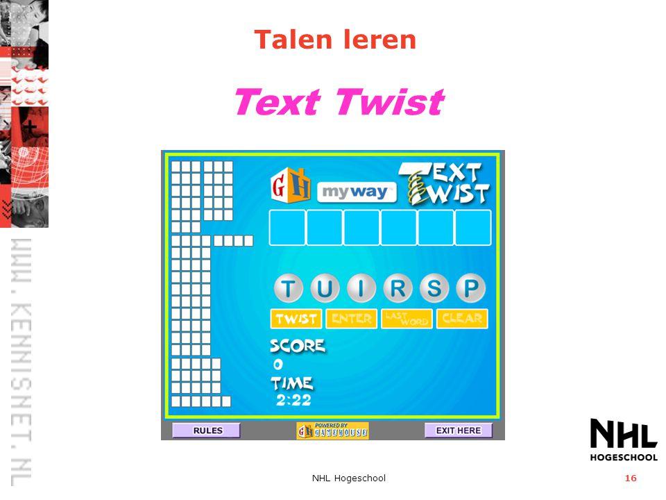 Talen leren Text Twist NHL Hogeschool