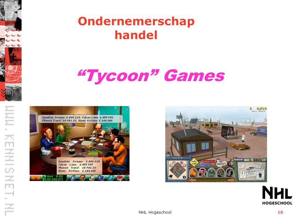 Ondernemerschap handel Tycoon Games NHL Hogeschool