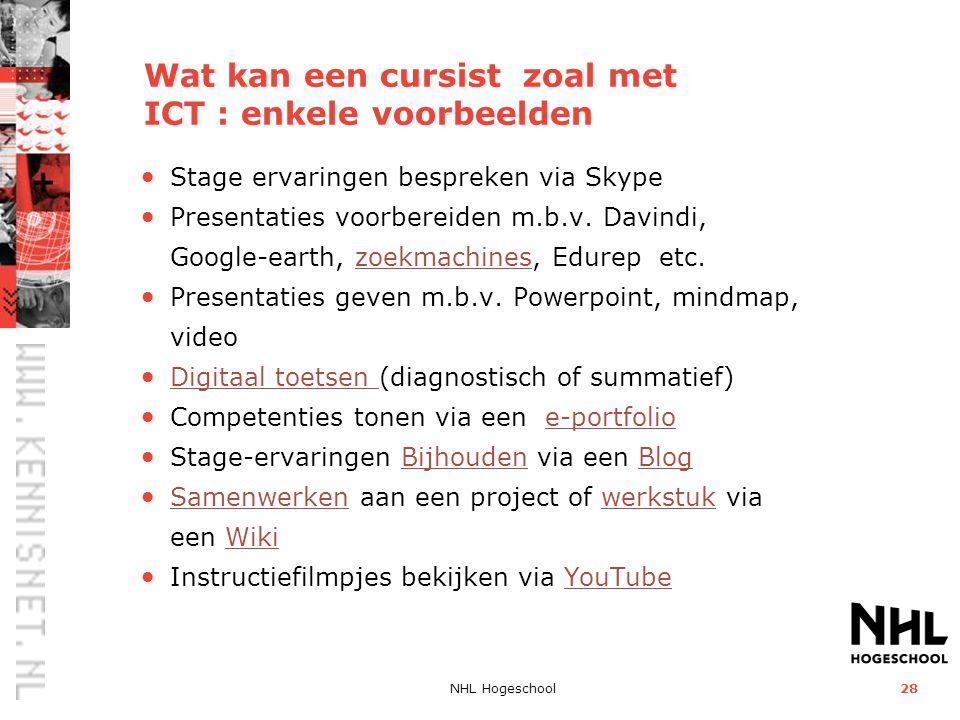 Wat kan een cursist zoal met ICT : enkele voorbeelden