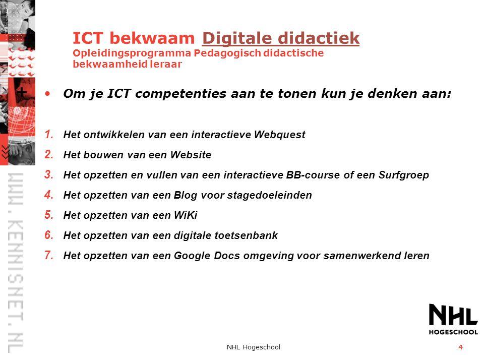 ICT bekwaam Digitale didactiek Opleidingsprogramma Pedagogisch didactische bekwaamheid leraar