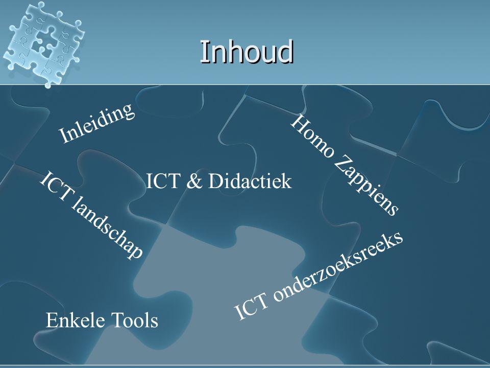 Inhoud Inleiding Homo Zappiens ICT & Didactiek ICT landschap