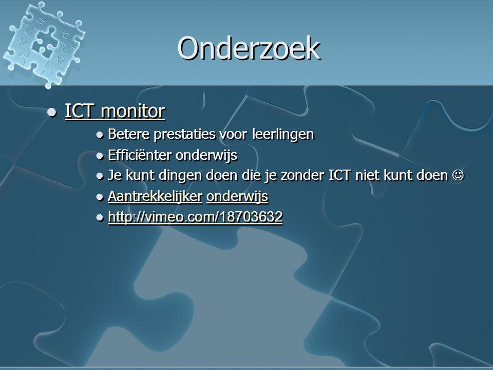 Onderzoek ICT monitor Betere prestaties voor leerlingen