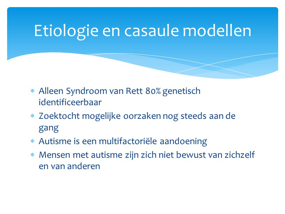 Etiologie en casaule modellen