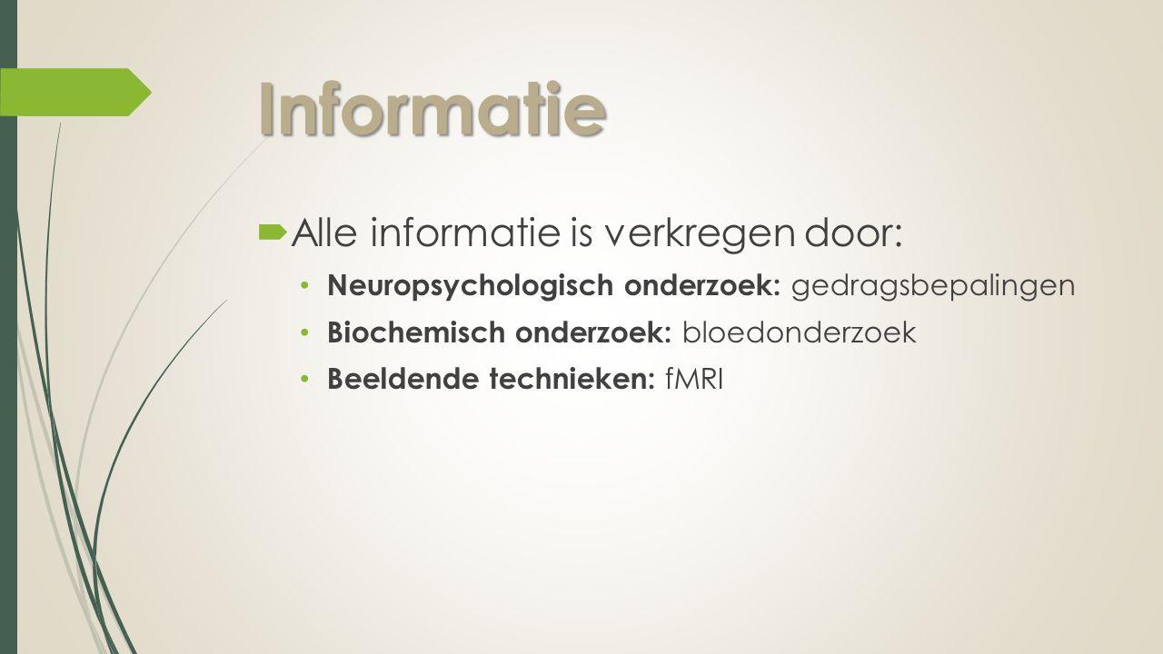 Informatie Alle informatie is verkregen door: