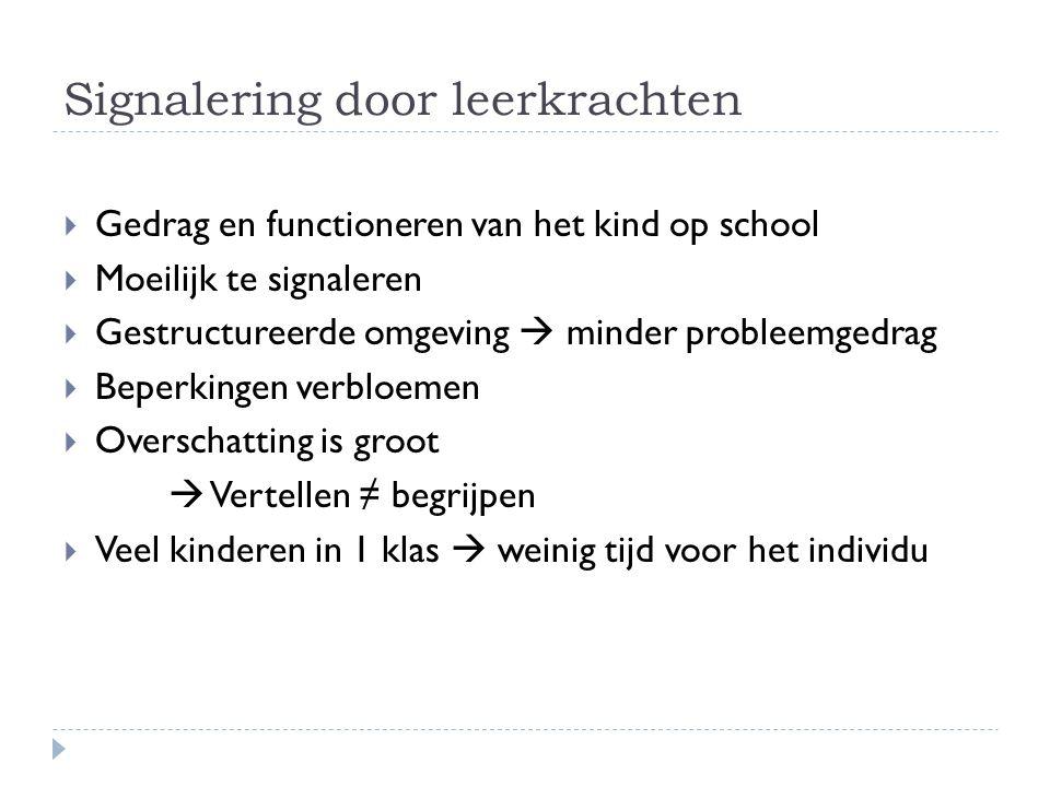 Signalering door leerkrachten