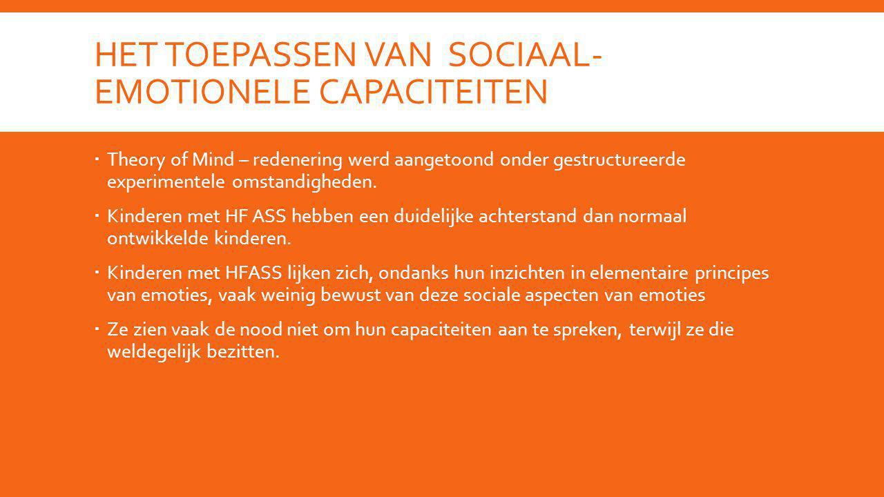 Het toepassen van sociaal-emotionele capaciteiten