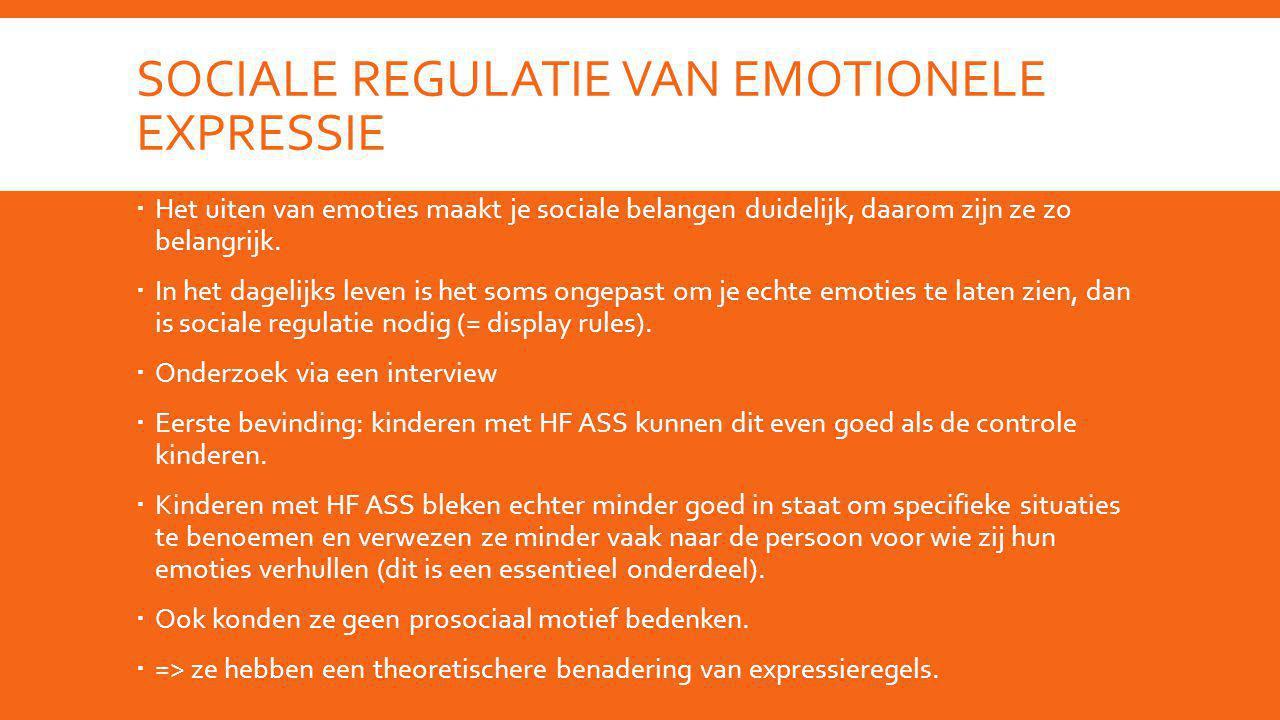 Sociale regulatie van emotionele expressie