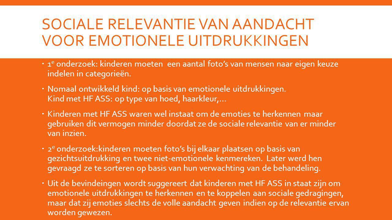 Sociale relevantie van aandacht voor emotionele uitdrukkingen