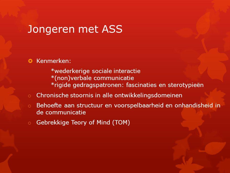 Jongeren met ASS Kenmerken:
