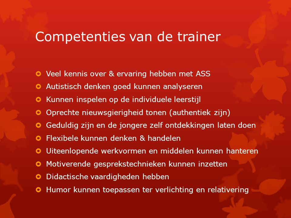 Competenties van de trainer
