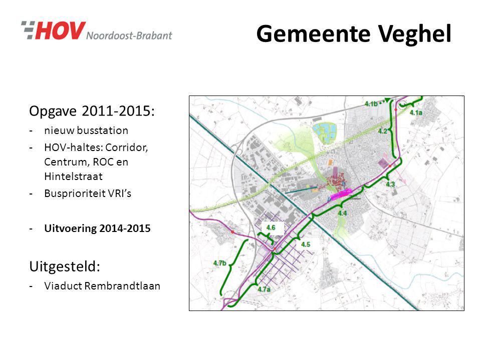 Gemeente Veghel Opgave 2011-2015: Uitgesteld: nieuw busstation