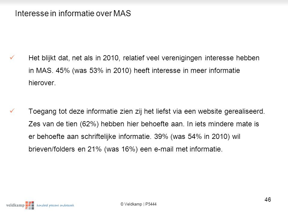 Interesse in informatie over MAS