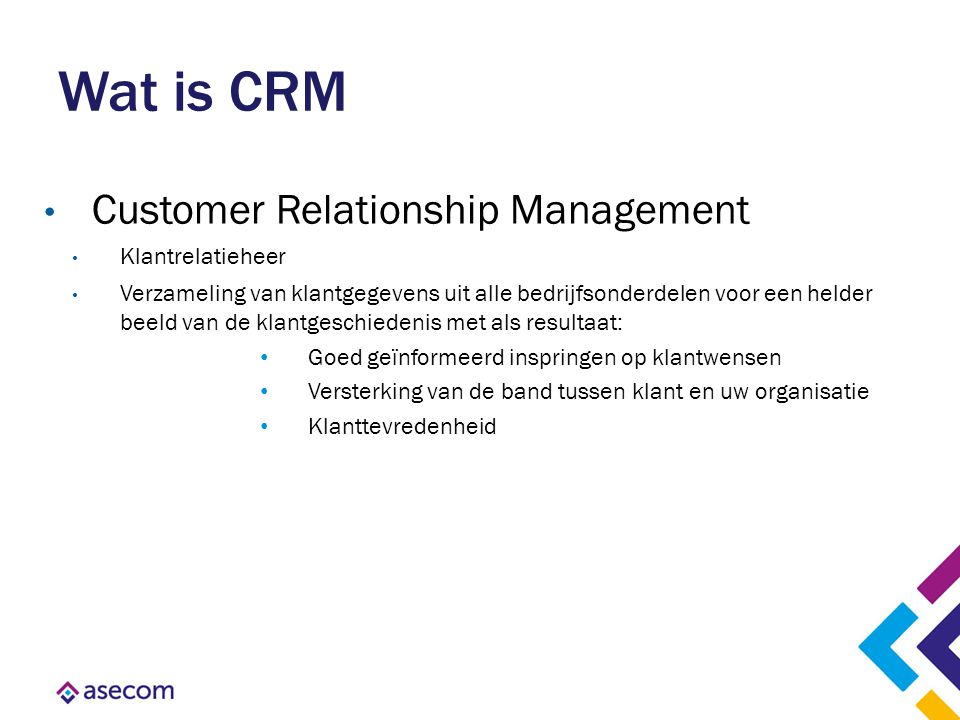 Wat is CRM Customer Relationship Management Klantrelatieheer