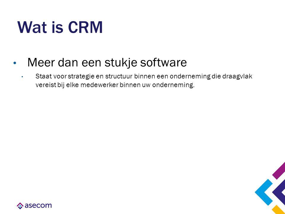 Wat is CRM Meer dan een stukje software