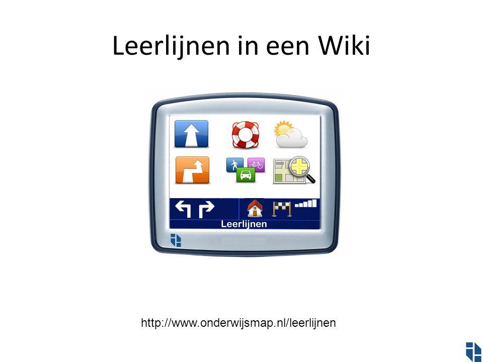 Leerlijnen in een Wiki http://www.onderwijsmap.nl/leerlijnen