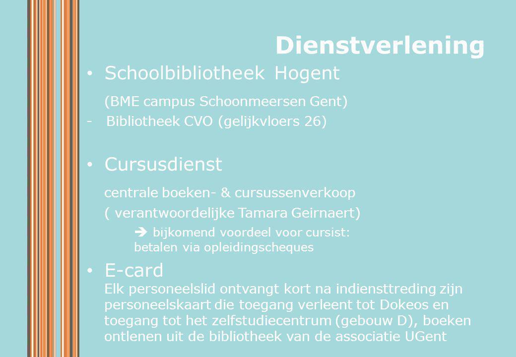 Dienstverlening Schoolbibliotheek Hogent