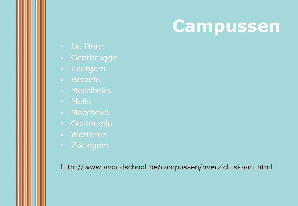 Campussen De Pinte Gentbrugge Evergem Herzele Merelbeke Melle Moerbeke