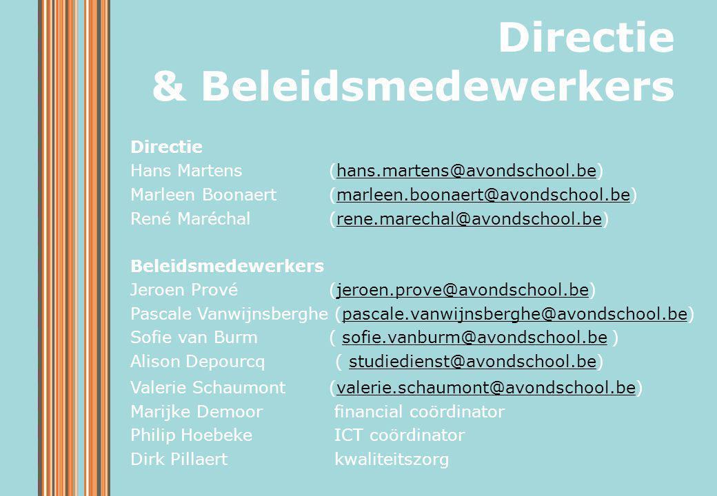 Directie & Beleidsmedewerkers Directie