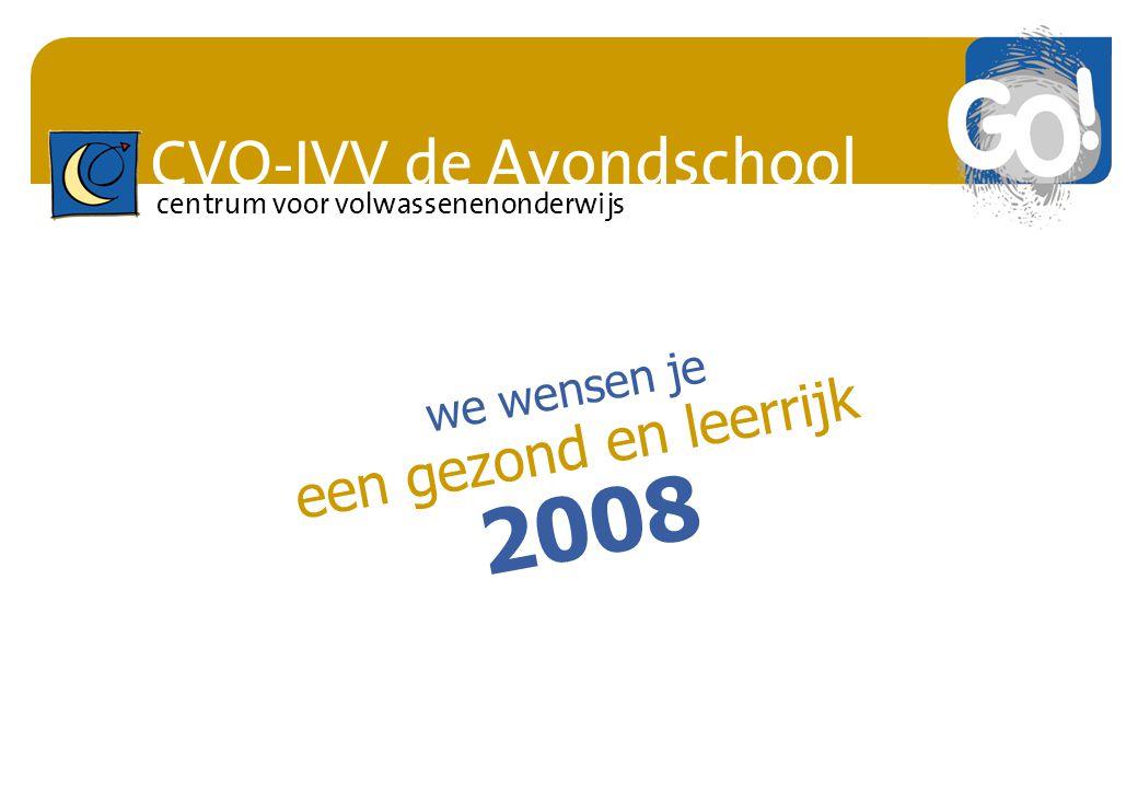 we wensen je een gezond en leerrijk 2008