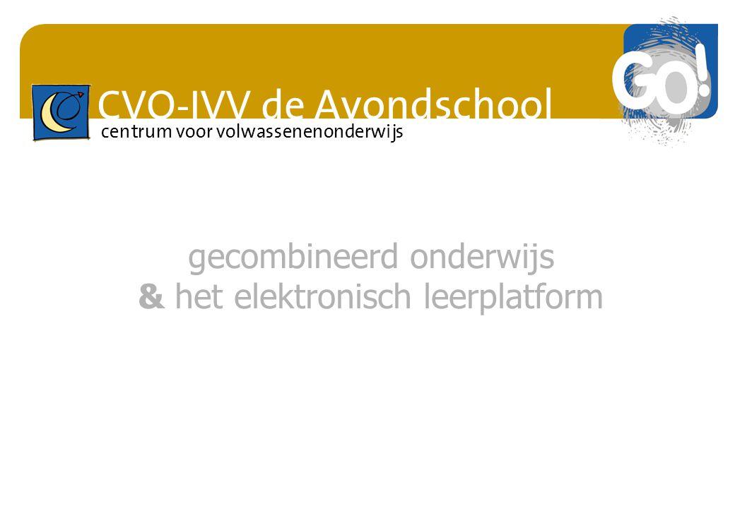 gecombineerd onderwijs & het elektronisch leerplatform