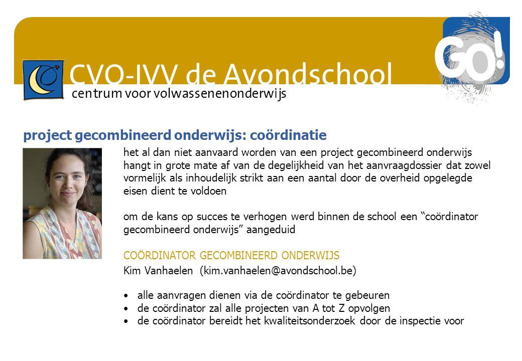 project gecombineerd onderwijs: coördinatie