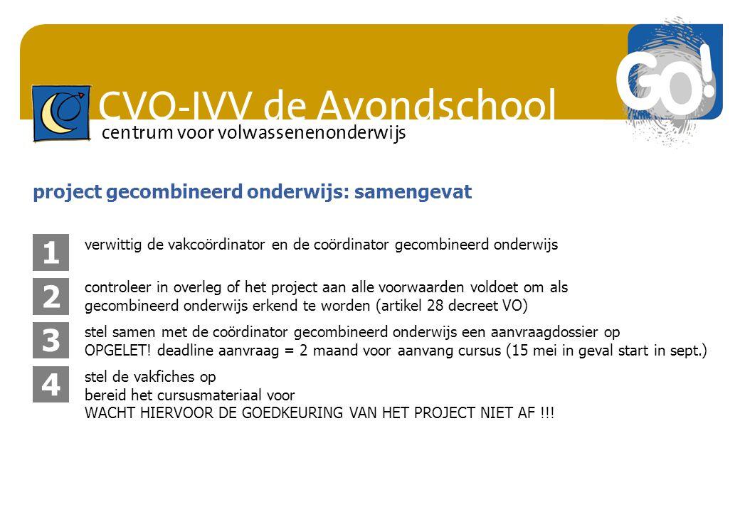 1 2 3 4 project gecombineerd onderwijs: samengevat