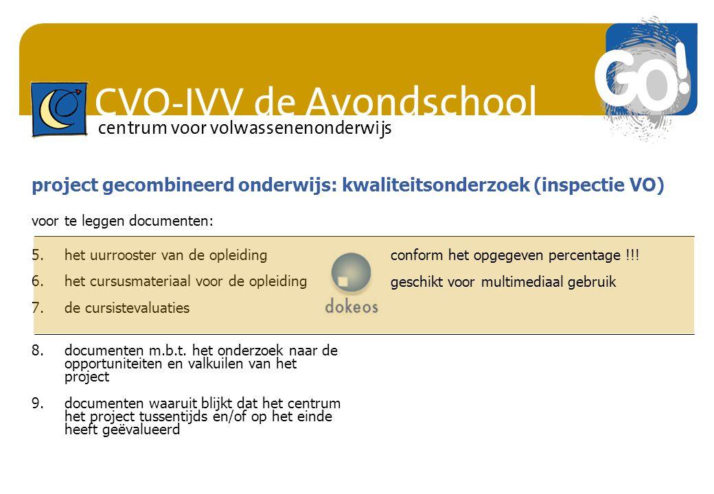 project gecombineerd onderwijs: kwaliteitsonderzoek (inspectie VO)