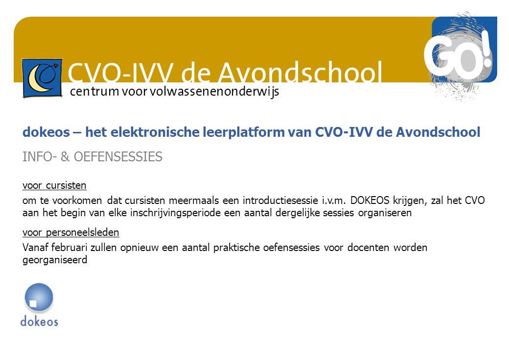dokeos – het elektronische leerplatform van CVO-IVV de Avondschool