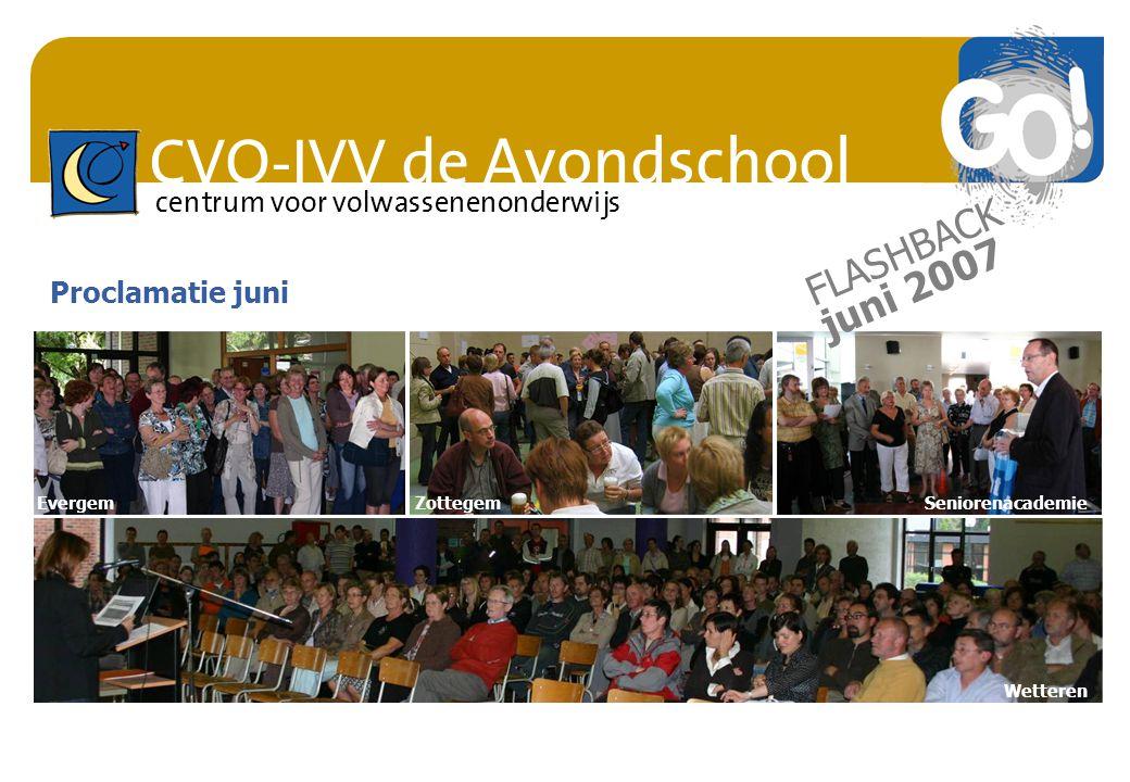 FLASHBACK juni 2007 Proclamatie juni Evergem Zottegem Seniorenacademie