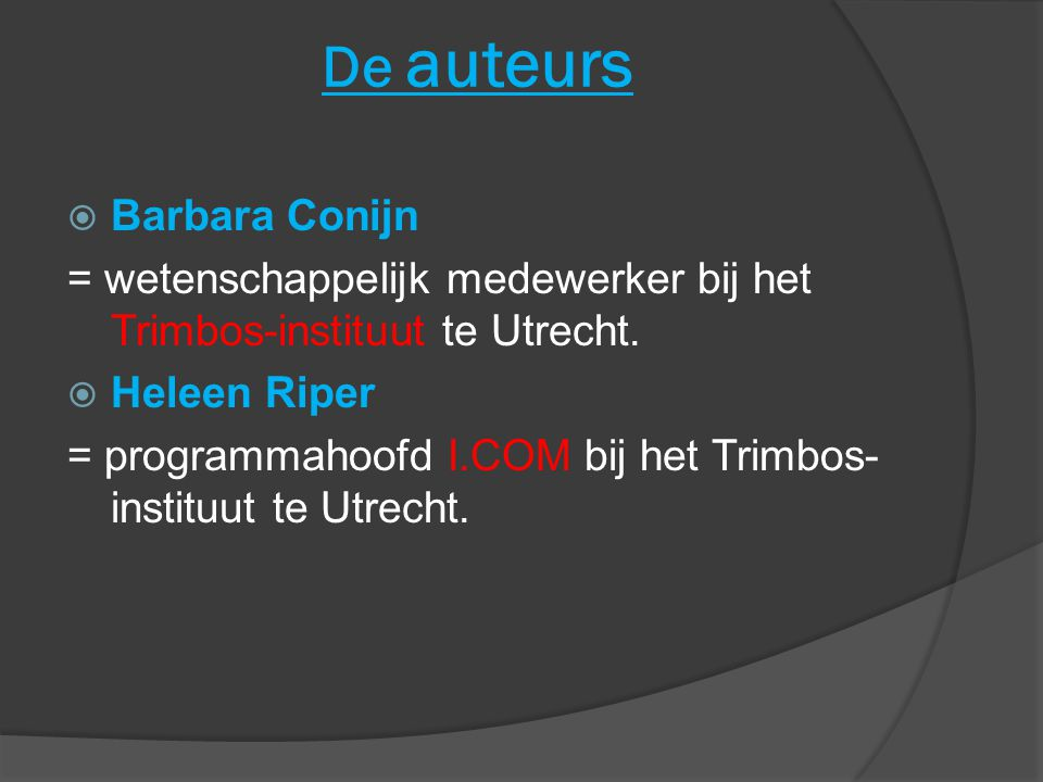 De auteurs Barbara Conijn