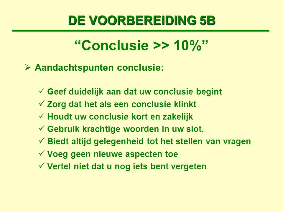 Conclusie >> 10%