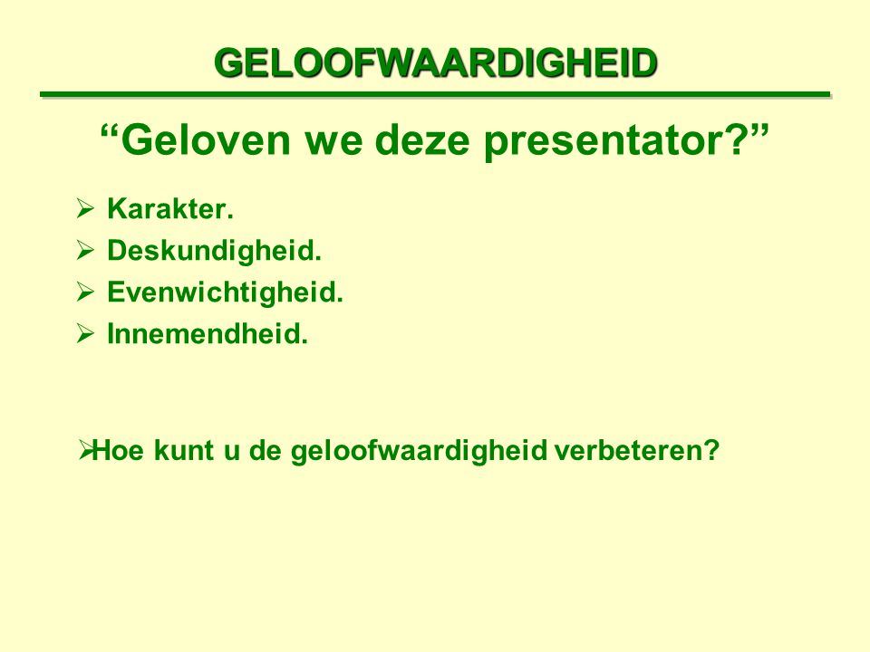 Presentaties in a nutshell ppt download - De geloofwaardigheid ...