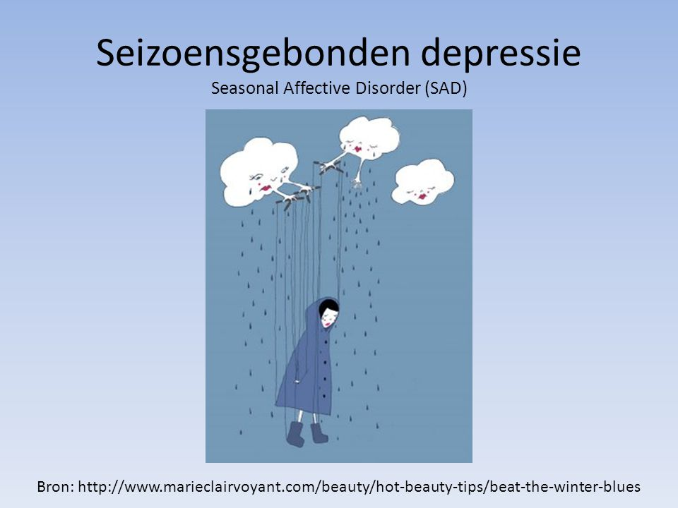 Seizoensgebonden depressie Seasonal Affective Disorder (SAD)