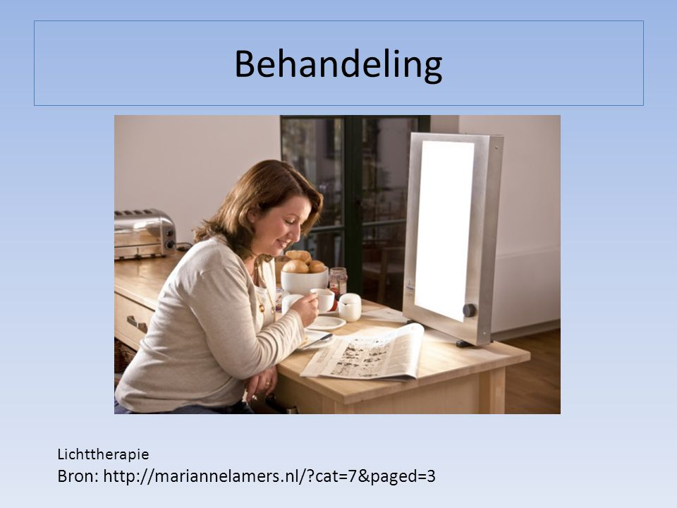 Behandeling Bron: http://mariannelamers.nl/ cat=7&paged=3