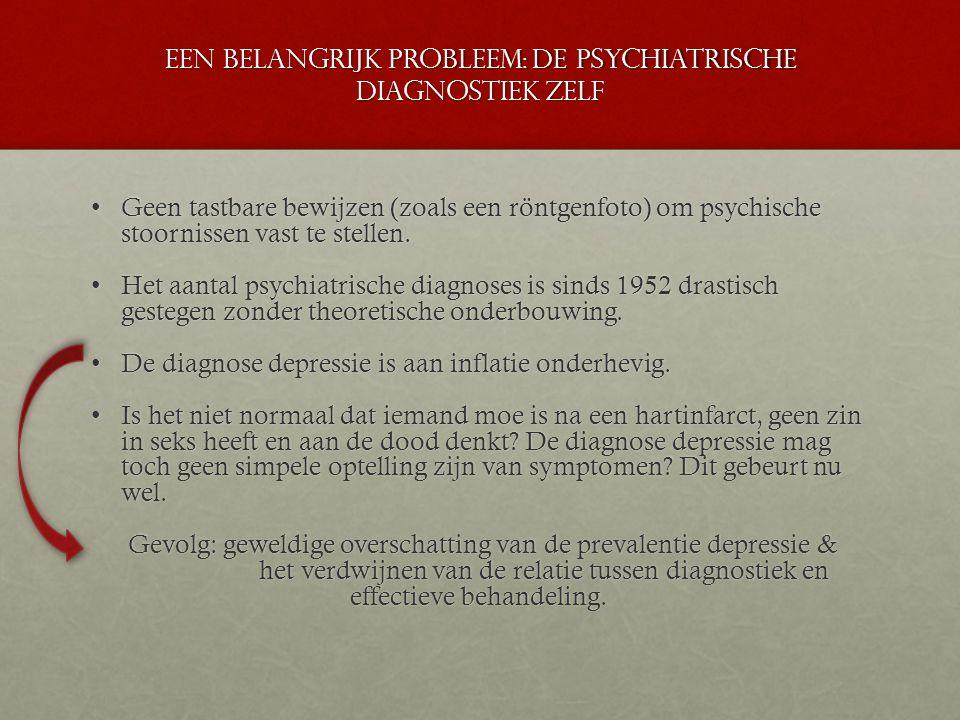 Een belangrijk probleem: de psychiatrische diagnostiek zelf