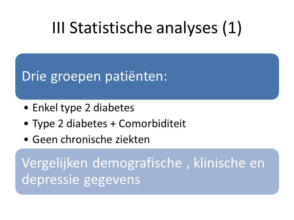 III Statistische analyses (1)