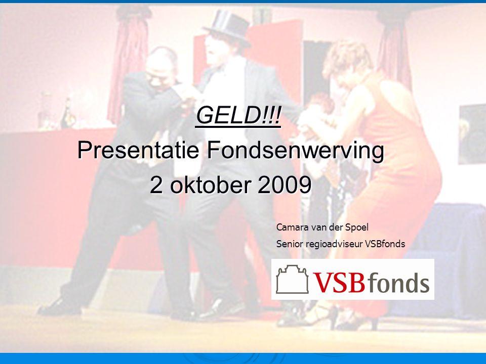 Presentatie Fondsenwerving