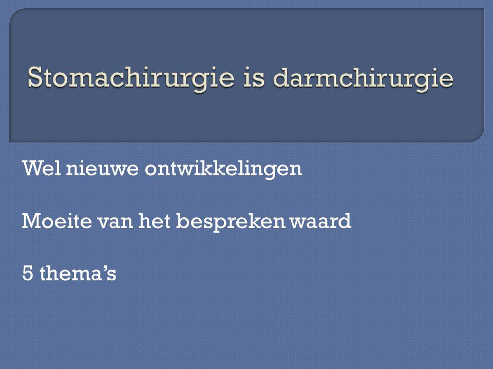 Stomachirurgie is darmchirurgie