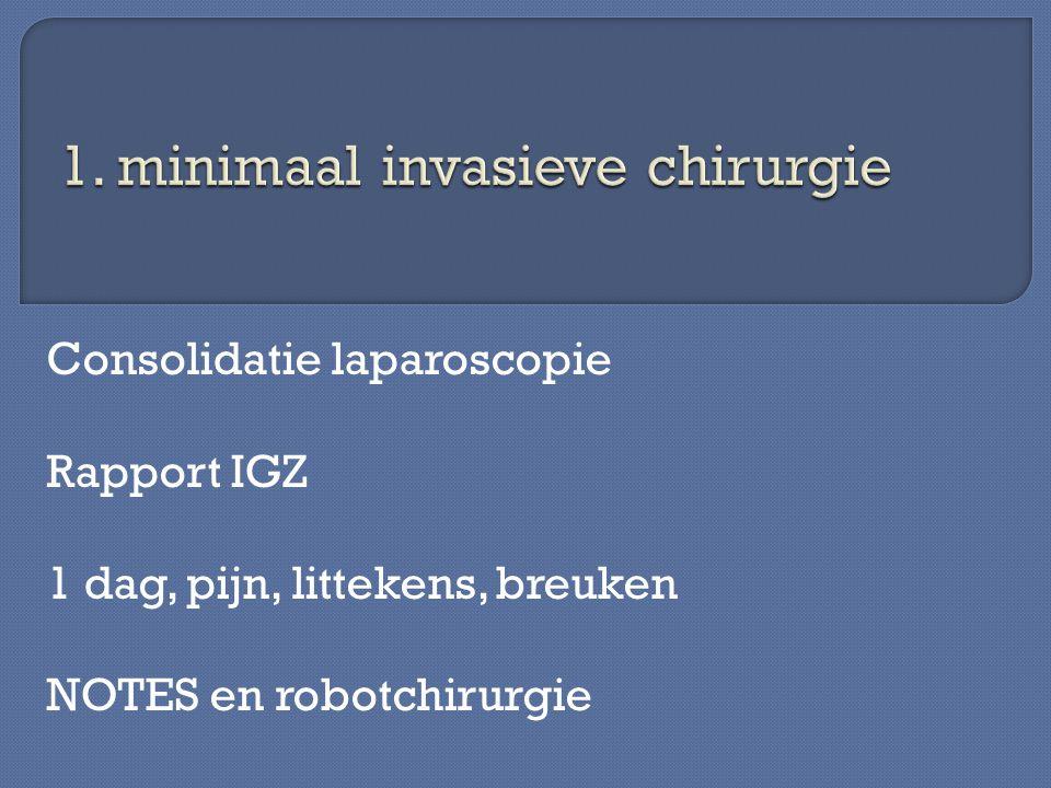 1. minimaal invasieve chirurgie