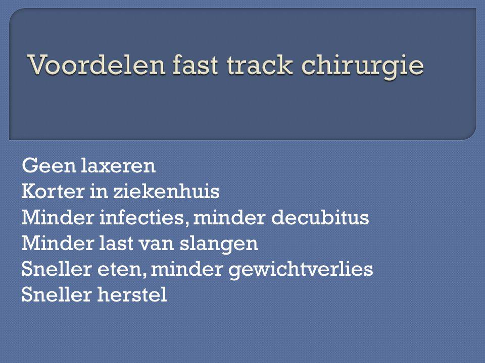 Voordelen fast track chirurgie