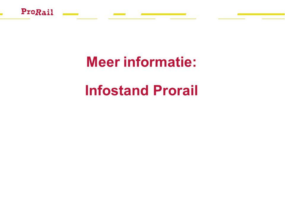 Meer informatie: Infostand Prorail