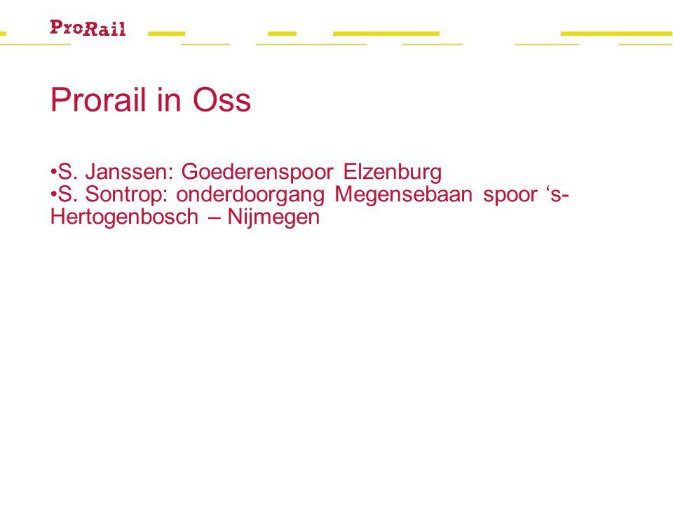 Prorail in Oss S. Janssen: Goederenspoor Elzenburg