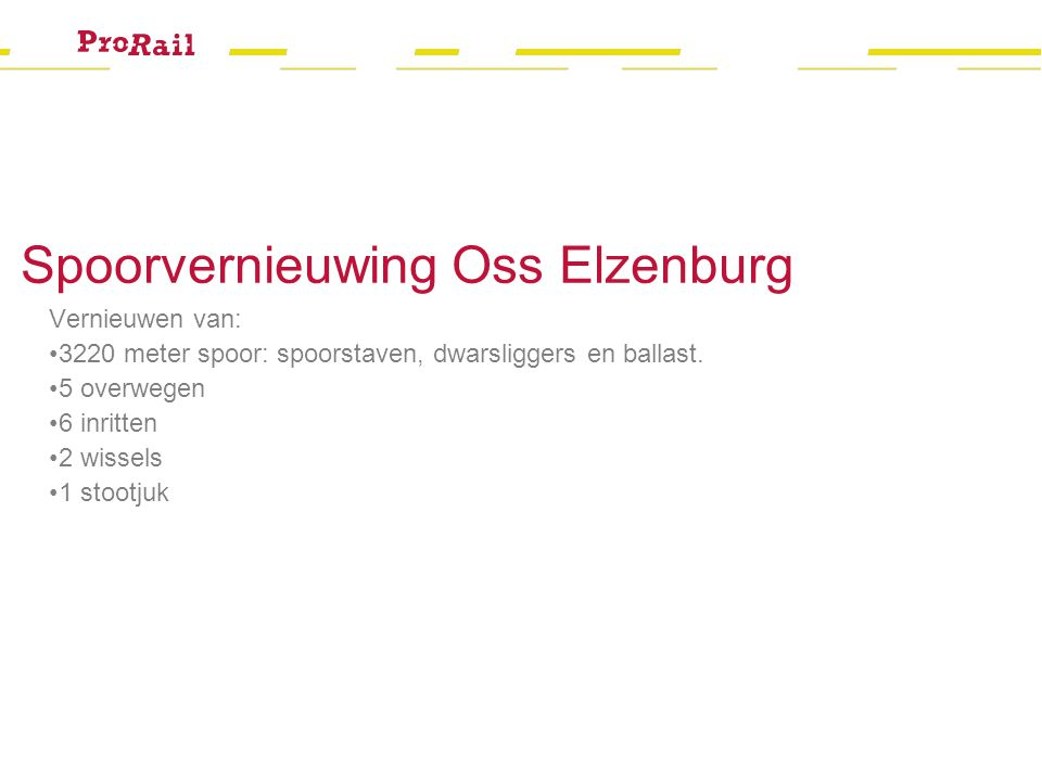 Spoorvernieuwing Oss Elzenburg