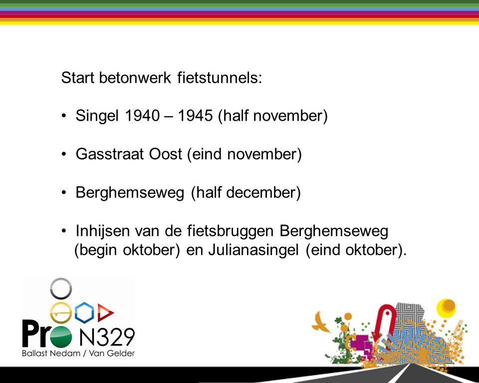 Start betonwerk fietstunnels: