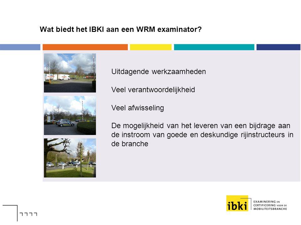 Wat biedt het IBKI aan een WRM examinator