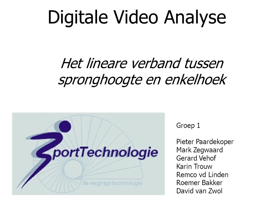Digitale Video Analyse