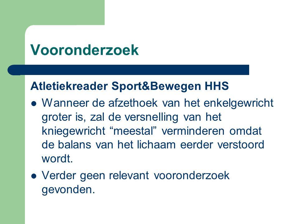 Vooronderzoek Atletiekreader Sport&Bewegen HHS