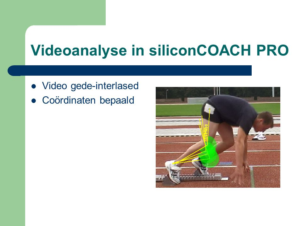 Videoanalyse in siliconCOACH PRO
